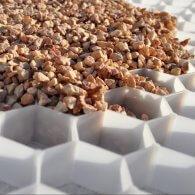 Grindplaat met gronddoek - Wit