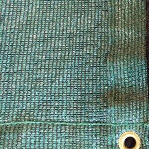 Schaduwdoek met polyester en omgeslagen rand