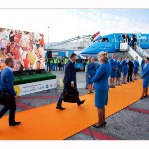 Oranje loper KLM Nederlands elftal