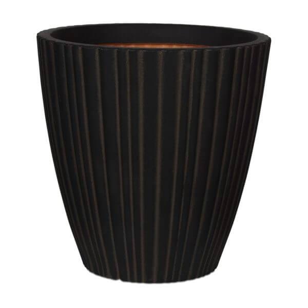 Capi plantenbak groot rond zwart bruin